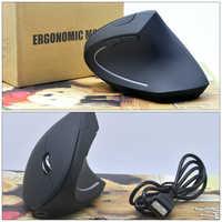 Nuevo ratón inalámbrico 2,4 GHz diseño ergonómico Vertical ratón 1600 DPI 6 botones USB dedo Gaming Mouse 2018 nuevo