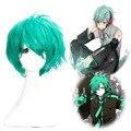 OHCOS Vocaloid Hatsune Мику (мужской вариант) Светло-Синий Короткий Парик Косплей