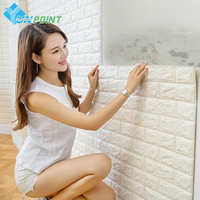 70x77cm Modern 3D Brick Wall Stickers PE Foam Wallpaper Stone Viny Stickers For Living Room Kids