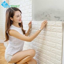 70x77cm Modern 3D Brick Wall Stickers PE Foam Wallpaper Stone Viny Stickers For Living Room Kids Bedroom DIY Wall covering Decor