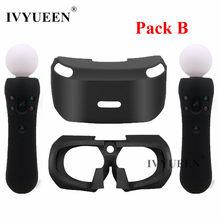 IVYUEEN para PSVR protector de vidrio funda de piel de silicona para PlayStation VR Move Motion cubierta para controladores para PS VR auriculares