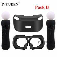 IVYUEEN für PSVR Glas Schutzmaßnahmen Silikon Skin Für PlayStation VR Bewegen Motion Controller Abdeckung für PS VR Headset