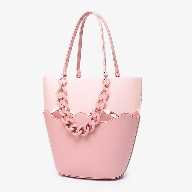 Proste mody kobiet torebki duża pojemność koreański panie torby kompozytowe zakupy podróży torebka damska torba na ramię 435 w Torebki na ramię od Bagaże i torby na  Grupa 3