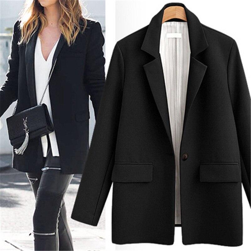 Autumn Suit Blazer Women 2019 Fashion Leisure Short Jackets Work Office Lady Formal Blazer Outerwear Plus Size Chaqueta Mujer