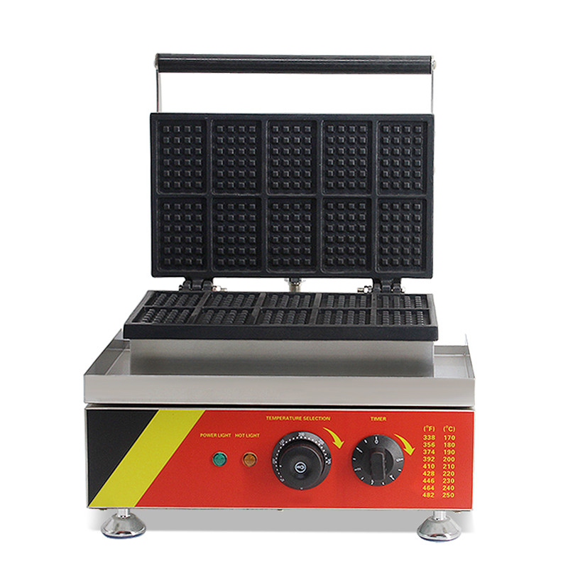 110V 220V Non-stick Multifunctional Electric Square Waffle Maker Machine Commercial Electric Muffin Square Waffle Baking Machine цена