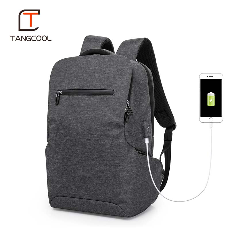 Tangcool Multifunction USB charging Men 15inch Laptop Backpacks For Teenager Fashion Men Mochila Leisure Travel backpack