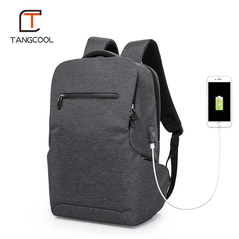 Tangcool multifonction USB charge hommes 15 pouces sacs à dos d'ordinateur portable pour adolescent mode hommes Mochila loisirs voyage sac à dos-in Sacs à dos from Baggages et sacs    1