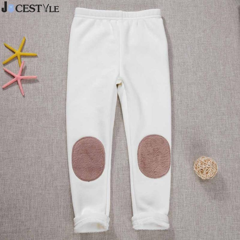 Baby Girls Casual Trousers Winter Leggings Fleece Thicken Personalized Cloth Stick Kids Clothes Girl Children Clothing
