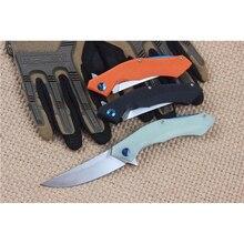 Three color optional D2 Folding Knife Survival Knife Tactical Pocket Knife G10 Hanlde with Belt Clip