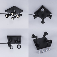 북유럽 철 장식 솔리드 블랙 led 샹들리에 조명 프로젝트 펜 던 트 램프
