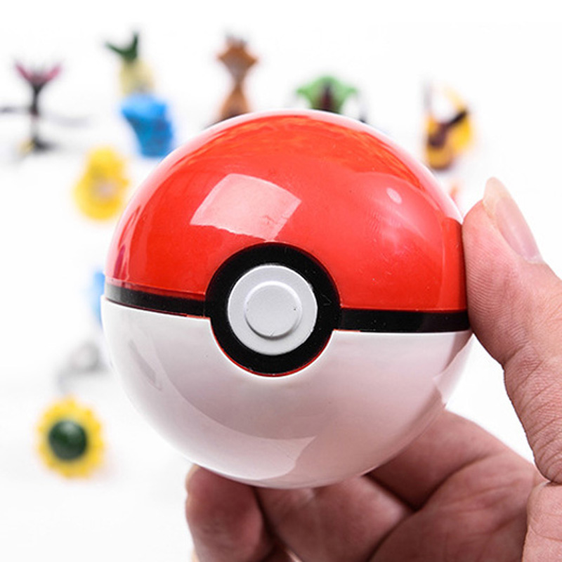 1Pcs Pokeball + Pokemones Figure Inside Figures Classic Toys for childern different kinds of ball and action figures random drop