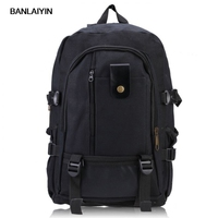 Male Retro Leisure Tourism Canvas Backpack