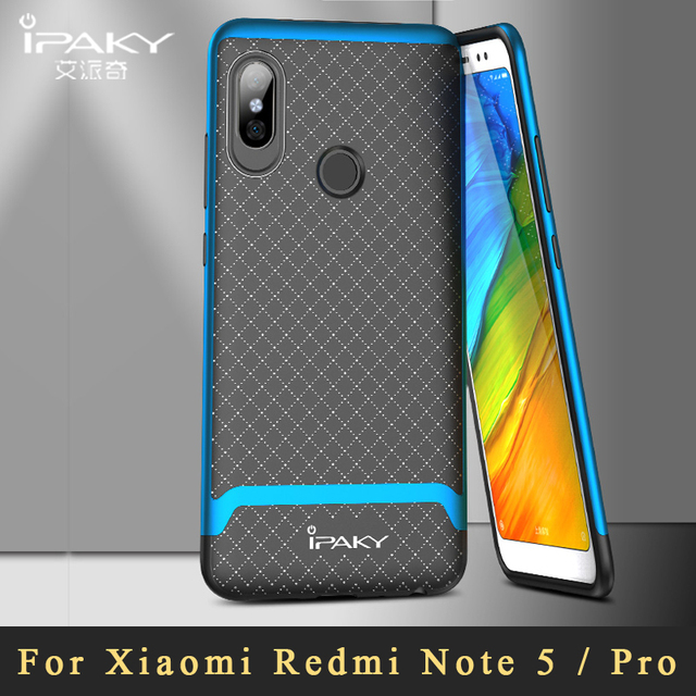 654d9701d1f Xiaomi Redmi Note 5 Pro Case iPaky Cover Redmi Note5 Pro Silicone Back Cover  + Plating