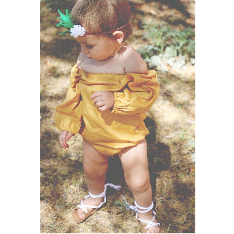 18b1ce7e40f 2017 Bayi Bodysuit Bayi Bayi Laki-laki Perempuan Panjang Lengan Bodysuit  Jumpsuit Pakaian Pakaian Pakaian Bermain