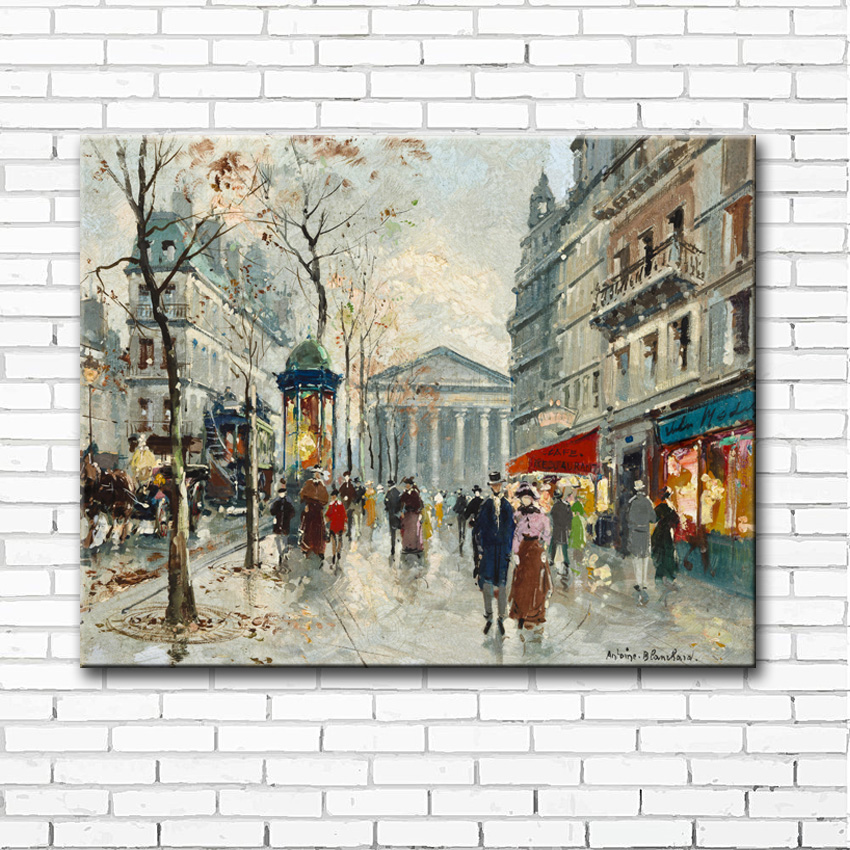 impression street light scenery canvas printings oil paintings printed on canvas modern wall art decoration pictures no frame