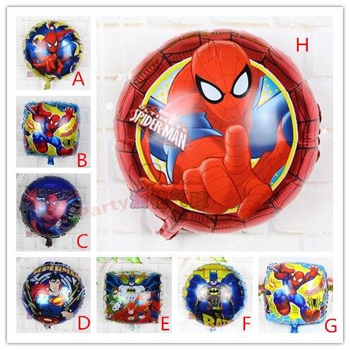 Hot50pcsset iron man superman ben 10 balloons cartoon hero