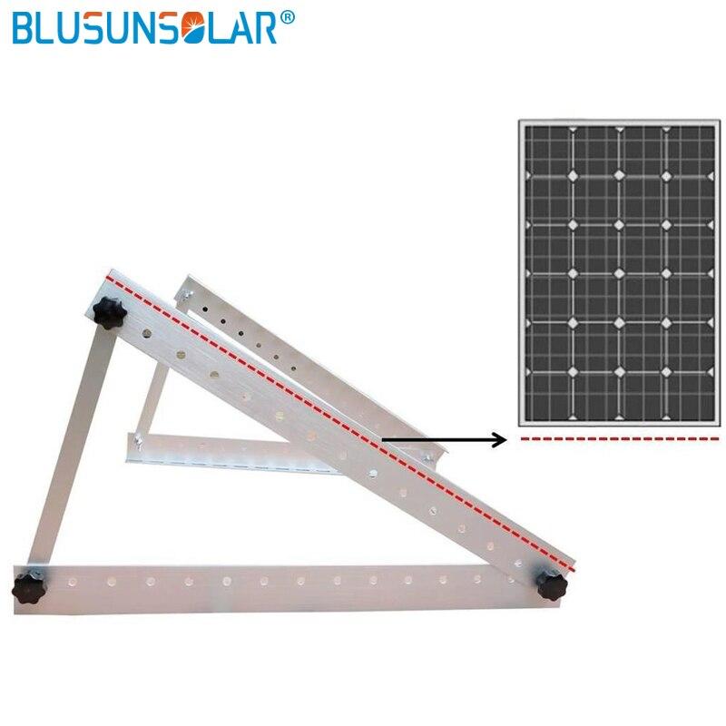 Support de montage de toit de panneau solaire en aluminium de Triangle de 550mm pour le toit de carvan de panneau solaire de 100 W