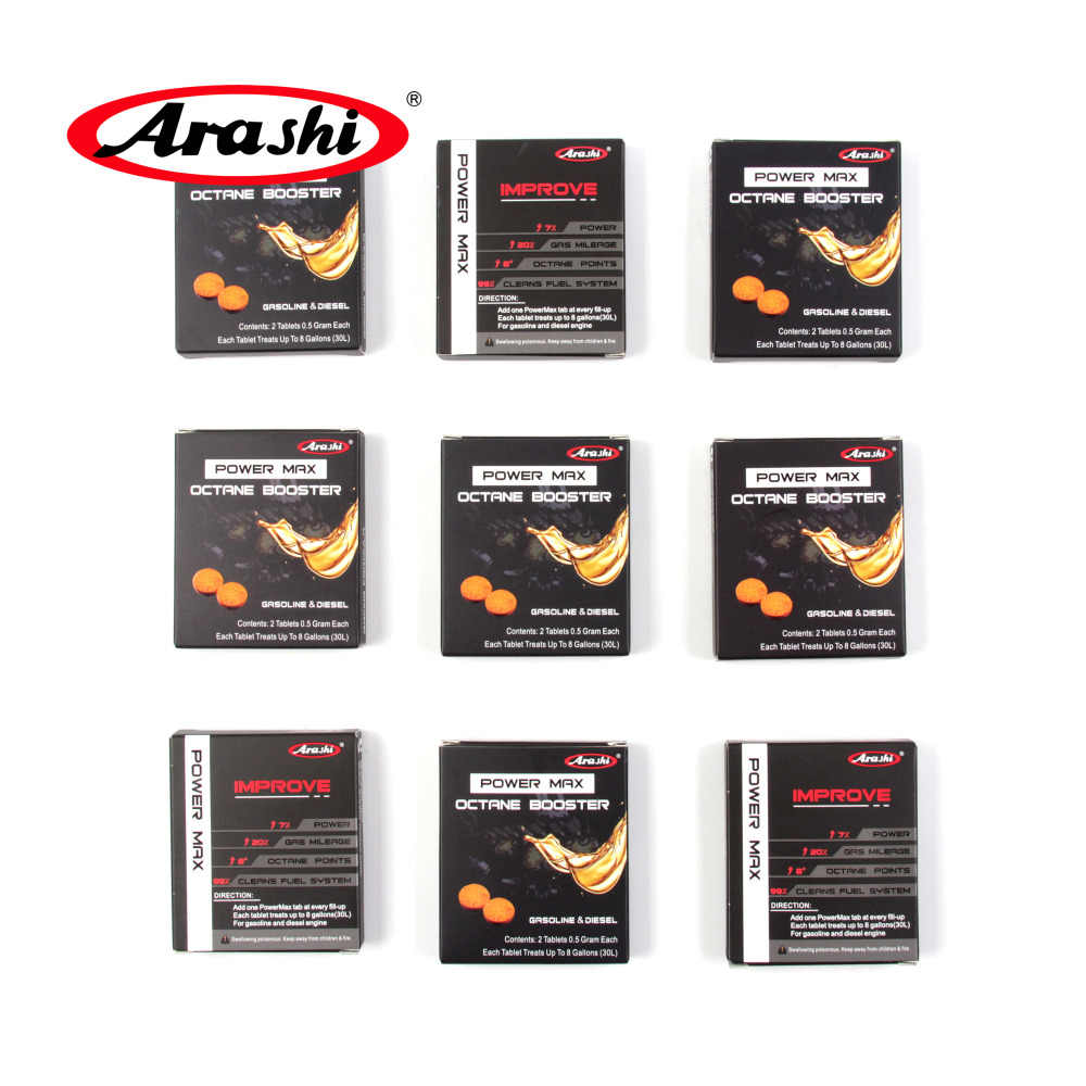 Arashi 6 Packs Power Max Octane Booster Oil Gas Fuel Additive Saver Cleaner  Motorcycle Accessories For HONDA CBR1000RR CBR600 VT