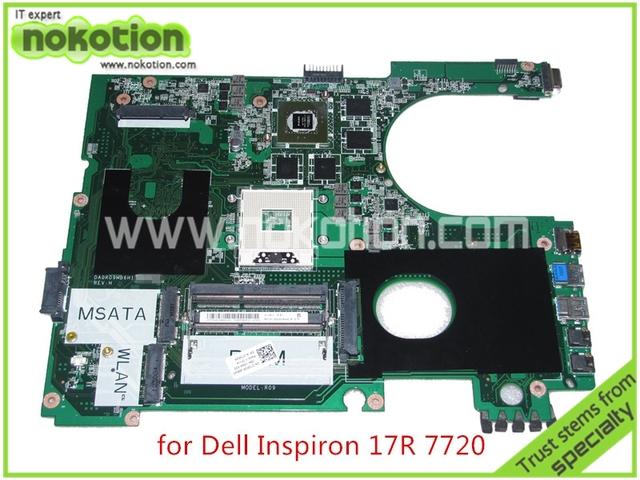 72P0M DA0R09MB6H1 REV H CN-072P0M Para dell inspiron 17R 7720 placa madre del ordenador portátil DDR3 Nvidia GT650M HD4000