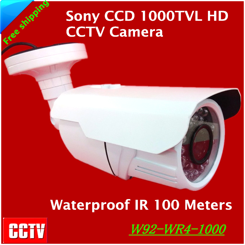 Newest Arrival! Sony CCD 1000TVL HD CCTV Camera Waterproof Outdoor Security Camera 1/3 IR 100 meter Free shipping free shipping new 1 3 sony ccd hd 1200tvl waterproof outdoor security camera 2 pcs array led ir 80 meter cctv camera