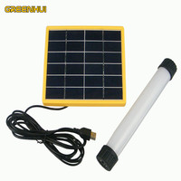 High Quality Solar Panel Power Multi Function LED Tube 3W 3014smd Outdoor Camping Tent Portable Emergency