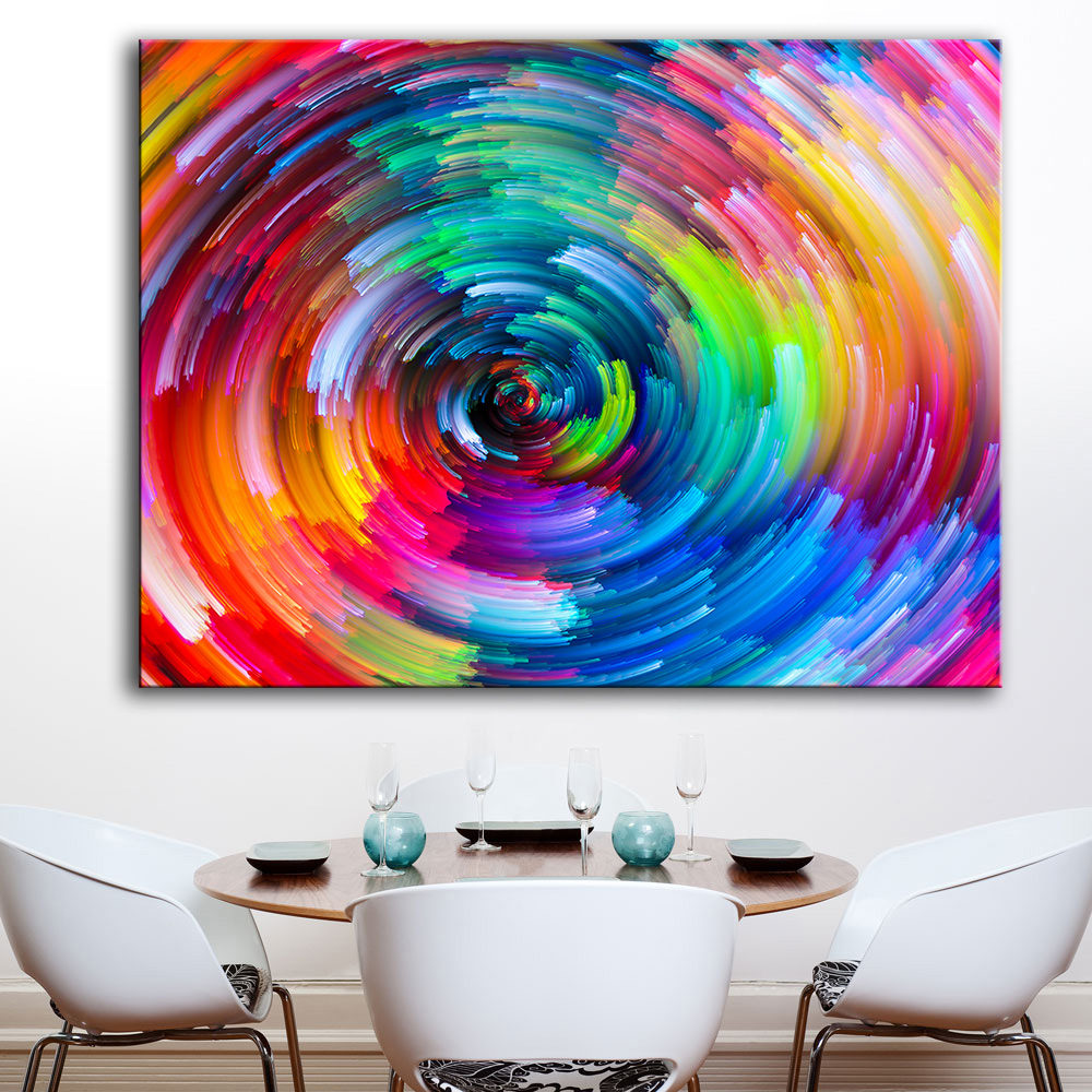 Aliexpress Com Buy Hdartisan Wall Canvas Art Pictures: HDARTISAN Colored Lines 734089 Oil Painting On Canvas Wall