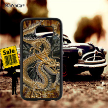 golden chinese dragon soft TPU edge cellphone cases for samsung s6 plus s7 s8 s9 s10 lite e note8 note9 case