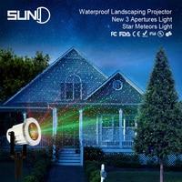 SUNY 3 kolory obiektyw światło laserowe projektor gwiazda meteory światło krajobrazu odkryty wodoodporny stop aluminium czerwone zielone statyczne kropki w Zewnętrzne oświetlenie od Lampy i oświetlenie na