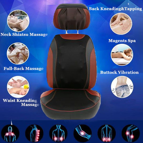Vibrating Tourmaline Massage Chair Massage Household Cushion for Neck Free Shipping 2018 free shipping online shopping best selling products vibrating back massage cushion vibration butt massage cushion for chair
