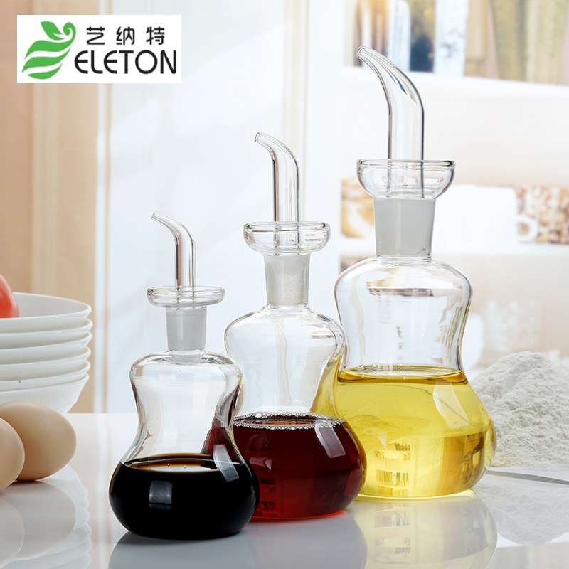 ELETON The new oil pot is vinegar bottle soy sauce jar with a jar of vinegar pot kitchen supplies Cooking oil flask gravy boats