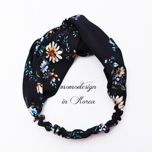 Fashion Retro Floral Cloth Original Hair Band Simple Temperament Summer Hair Band Hoop Fresh Cloth Art Headband Hairpin