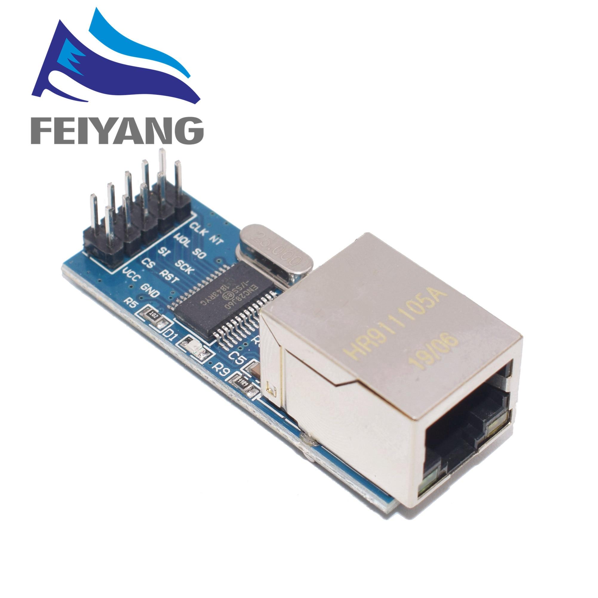 1 pièces Ethernet de module de réseau d'interface d'enc28j60 SPI (version mini)
