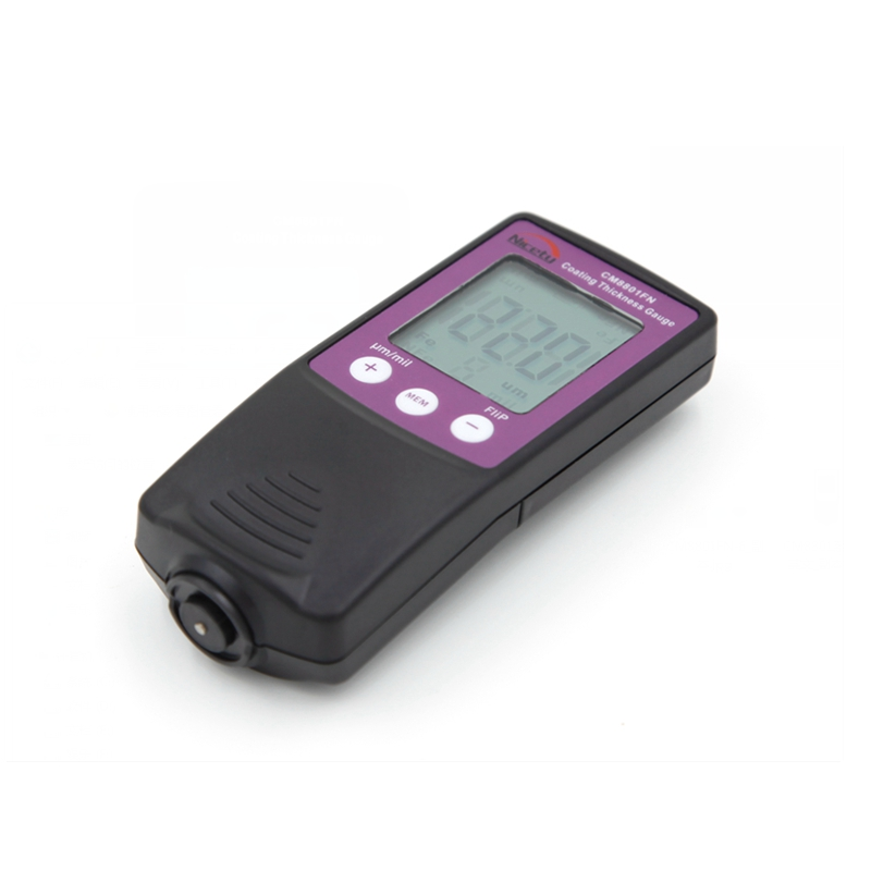 Fe NFe Coating Thickness Gauge 2in1 LCD Digital Car Metal Painting Film Thickness Meter Mils Microns 0-1250um CM8801FN Data Hold