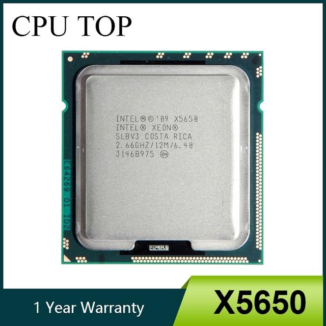 Intel Xeon X5650 Sáu Lõi Bộ Vi Xử Lý 2.66 GHz LGA1366 12 MB L3 Bộ Nhớ Cache CPU máy chủ SLBV3
