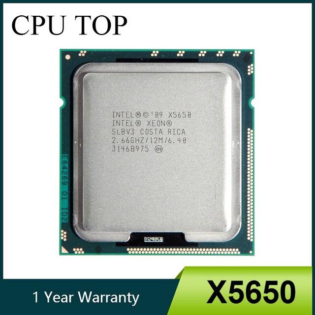 إنتل زيون X5650 ستة النواة 2.66 GHz LGA1366 12 MB L3 مخبأ الخادم وحدة المعالجة المركزية SLBV3