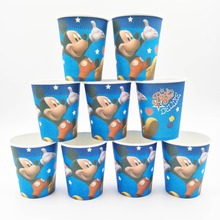 10pcs Cup Mickey Mouse Cartoon Theme Party For Children/Girls Happy Birthday Decoration kids party decoration