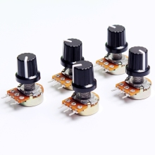 5pcs 10K OHM 3 Terminal Linear Taper Rotary Volume B Type Potentiometer Pot New Arrival High Quality