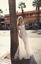 فستان سهرة مثير بالتل الأبيض الناعم المطرز