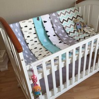 Baby Bedding Set Toddler Cama Crib Bedding Set Cloud Kids Cotton Newborn cuna bed sheets+Quilt Cover+Pillow Cover jogo de cama