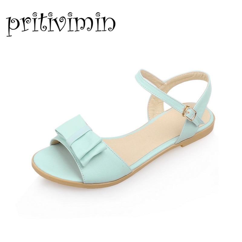 2017 Pritivimin fashion women's summer shoes flat heel ...