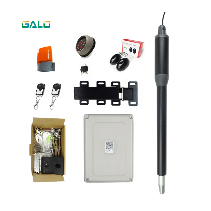 Aluminum Automatic Single Swing Gate Opener moto kits with gate door lock for home Swing Gates or doors half height turnstiles for managing queue ticket with rs 485 connection swing door