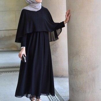 Vestidos Largos Abaya Dubai Turkey Kaftan Linen Maxi Muslim Shawl Hijab Long Dress Abayas For