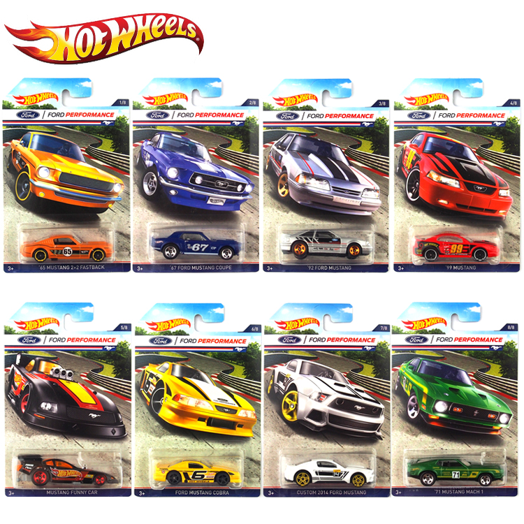 hot 1:64 car wheels Car Collector's Edition Ford Mustang Metal Diecast Cars Collection Kids Toys Vehicle For Children Juguetes