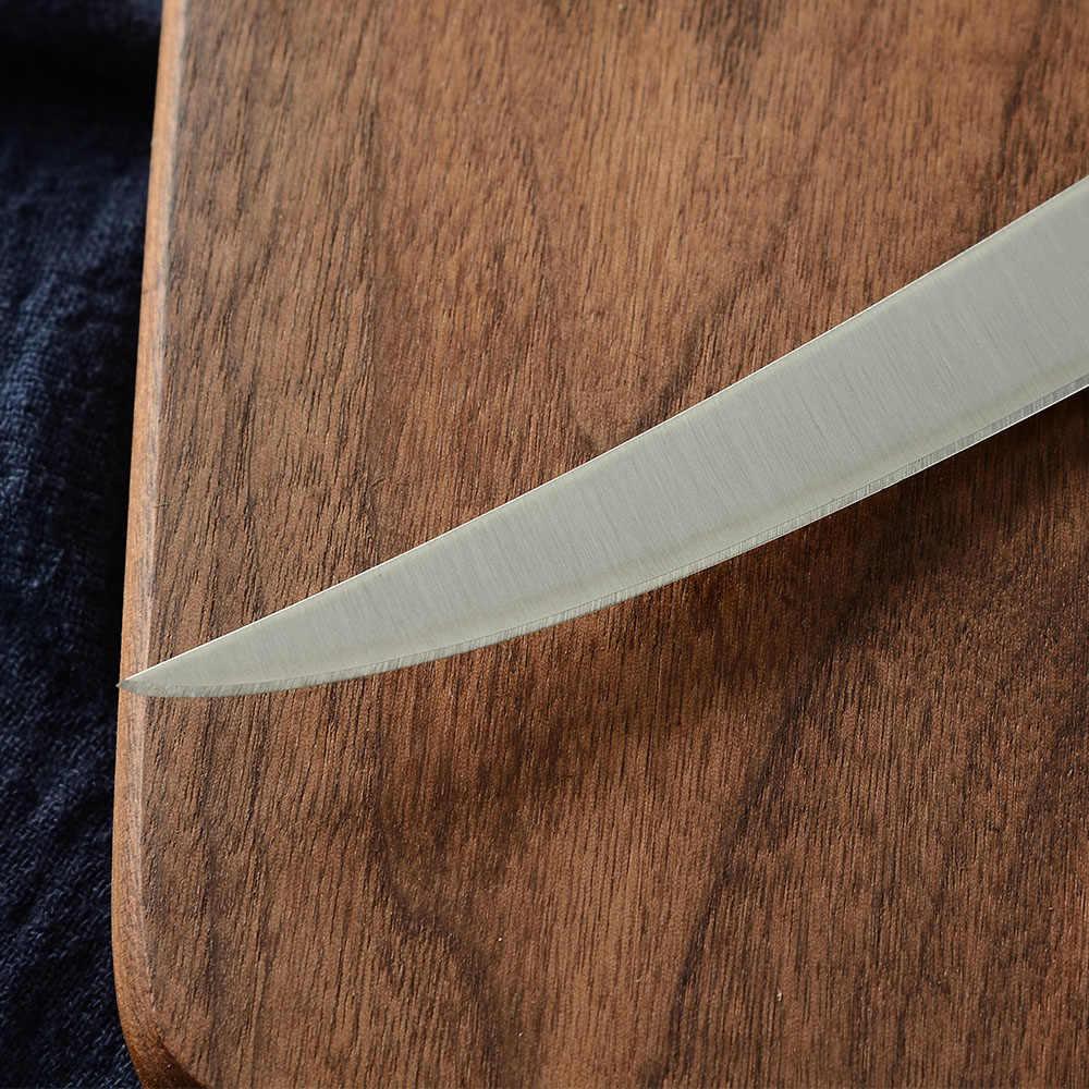 8 cal zakrzywione nóż do trybowania kuchnia nóż ze stali nierdzewnej kute elastyczne kości łosoś Sushi drobnych surowe ryby nóż do filetowania obejmuje
