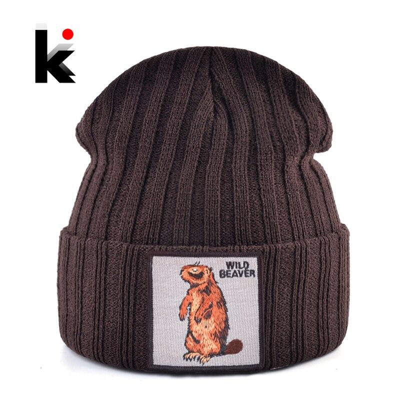 Men's Skullies Beanies Solid Color Knitted Beanie Beaver Hat Women Streetwear Knitting Bonnet Cap Fashion Gorras Boy Girl Hats
