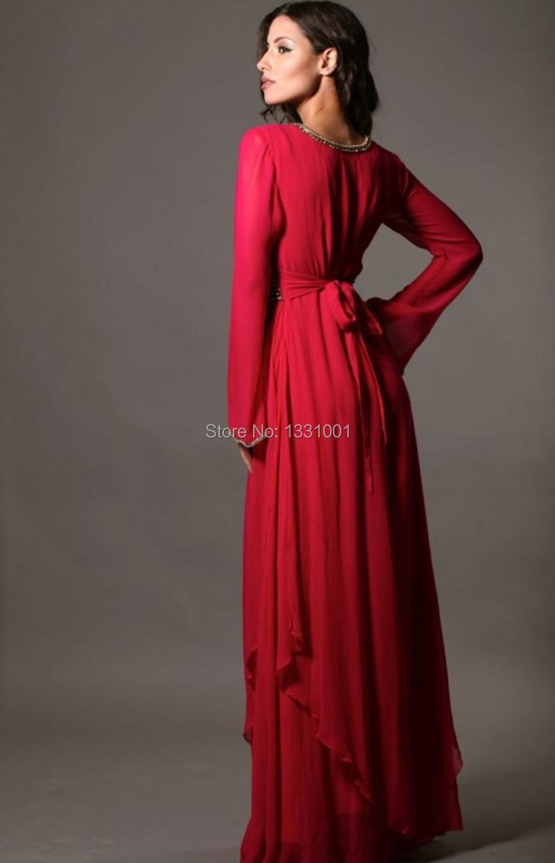 Aliexpress.com : Buy Long Sleeve Full Length Muslim Evening Dress ...