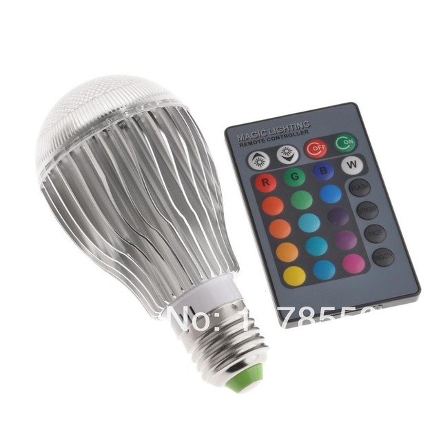 House Decorate Cocktail Party RGB LED E27 10W 5 Modes Flash  85-265V Light Lamp  for Home Party decoration with IR Remote