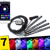 12V Car Auto LED Strip Light 7 Colors Car Styling Decorative Atmosphere Lamps Car Interior Light