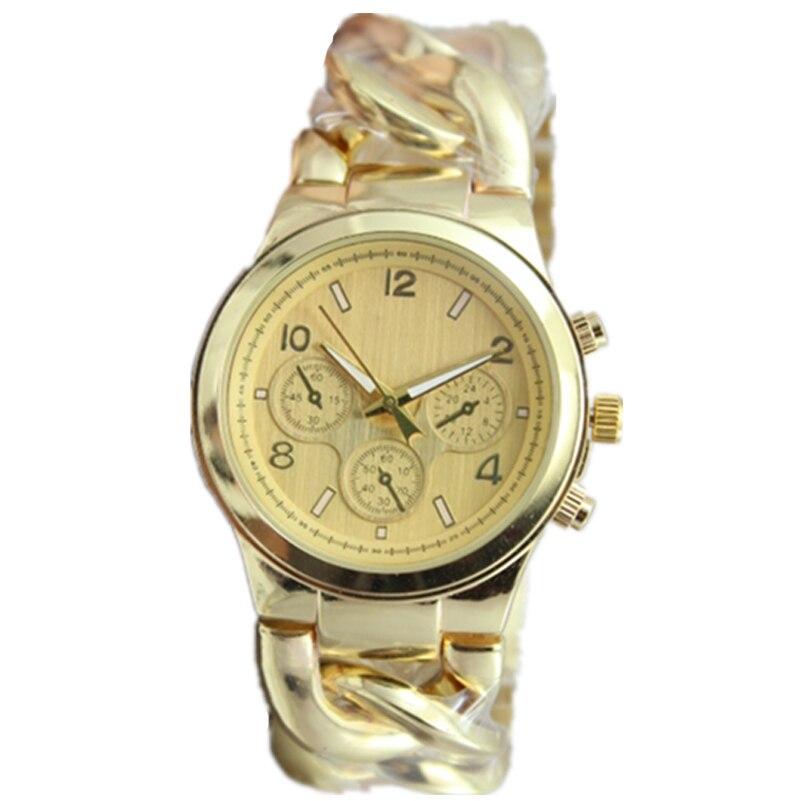 new design geneva style 3 eyes decoration men dress Cowboy Chain watches alloy band quartz watch