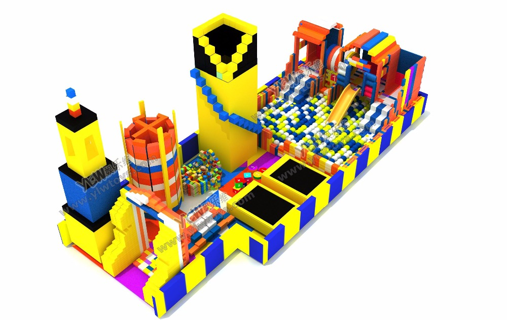 HOT sales soft indoor playground Wholesale soft EPP blocks mall play area DIY plastic indoor big plastic block parks YLW-EPP0323 ylw ce approved supermarket kids indoor playground equipment golden factory indoor soft play system